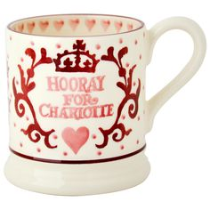 - Royal Baby Pint Mug by Emma Bridgewater. Beautifully hand-sponged, this delightful mug was designed to commemorate the birth of Her Royal Highness Princess Charlotte of Cambridge. Kate Middleton News, Middleton Family, All The Princesses, Emma Bridgewater Pottery, Baby Princess, Royal Princess, Bees Knees, Unique Gifts, Mugs