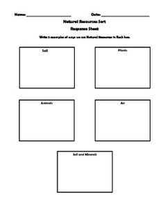 Graphic Organizer on Natural Resources...