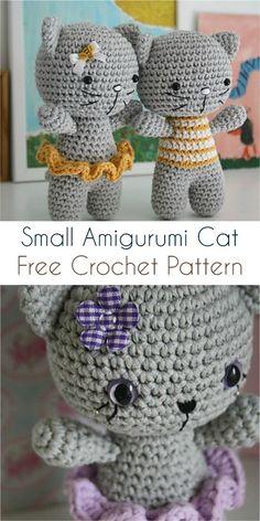 Small Amigurumi Cat [Free Crochet Pattern] #crochet #amigurumi #amigurumitoy