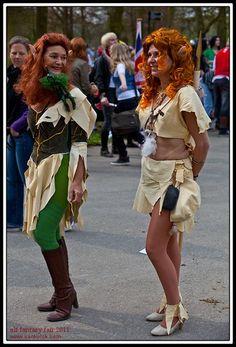 De EFF 2011. Figuren uit de strip Elfquest. (gemaakt van zemen lappen)