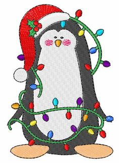 Christmas Penguin Machine Embroidery Design   Embroidery Patterns