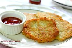Potato Pancakes - Cook n' Share - World Cuisines Potato Dishes, Potato Recipes, Food Network Recipes, Cooking Recipes, Drink Recipes, Cook N, Baked Roast, Potato Pancakes, Roasted Meat