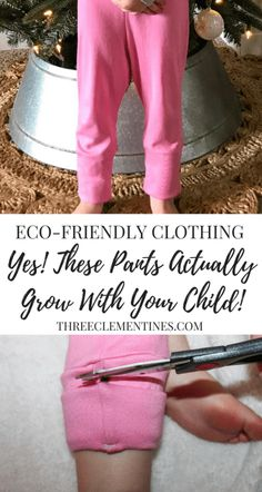 Check out this awesome eco-friendly kids clothing line. Pants that actually grows as your child grows! #ecofriendly #kidsclothes #chunkabuns #growwithmepants #babyclothes