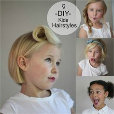 9 DIY Kids Hairstyles #kids // Hair & Beauty