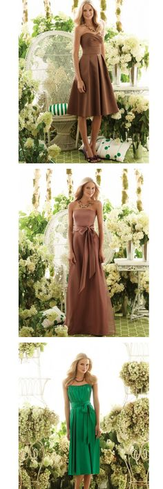 Bridesmaid Dresses - the middle dress is very elegant and lovely.