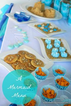 Click here to view some tasty ideas for any mermaid themed birthday party! The sand dollar cookie look delicious!