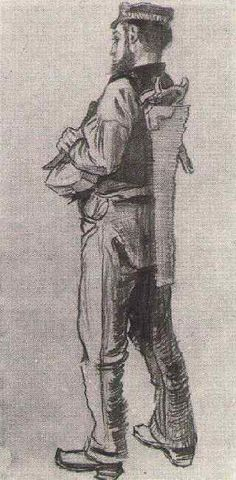 Carpenter, Seen fromt the Back. 1882. Vincent van Gogh: The Drawings