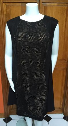 Connected Womens Plus Size 22W Black Sleeveless Cut Out Dress NWOT #Connected #Sheath #Cocktail
