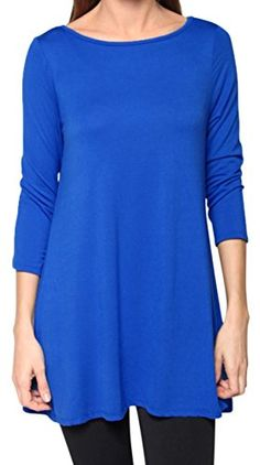 Free to Live Women's Flowy Elbow Sleeve Jersey Tunic Blouse Top Made in USA (Medium, Royal Blue) Free to Live http://www.amazon.com/dp/B010G6STDC/ref=cm_sw_r_pi_dp_nQ2Wwb0GP1NK5