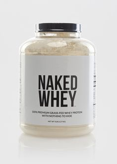 NAKED WHEY - Grass-Fed Whey Protein Powder - 5lb