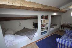 Zolder met tweepersoons bed. Super!