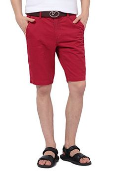 Men's Clothing - Pau1Hami1ton PH01 Mens Classic Slim Fit Flat Front Twill Casual Short -- Details can be found by clicking on the image. (This is an Amazon affiliate link)