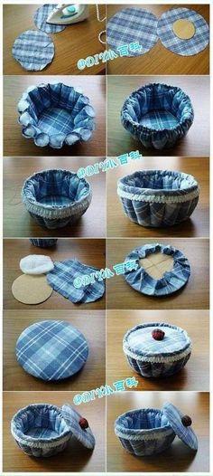 DIY Fabric Pumpkin Storage Vase