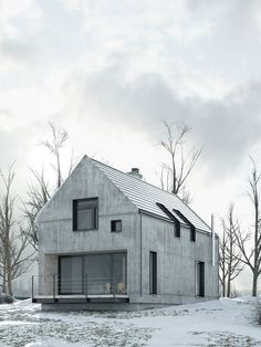 Awesome Simple Farmhouse Architecture Design Ideas - Page 36 of 47 Houses Architecture, Architecture Design, Farmhouse Architecture, Residential Architecture, Contemporary Architecture, Fashion Architecture, Concrete Architecture, Design Exterior, Beton Design