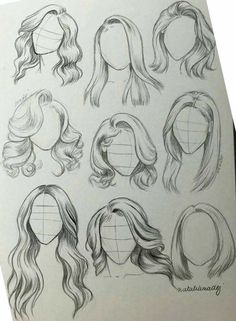 Girl Hair Drawing, Girl Drawing Sketches, Cool Art Drawings, Pencil Art Drawings, Drawing Tips, Easy Drawings, Tattoo Sketches, Drawing Techniques, Drawings Of Hair