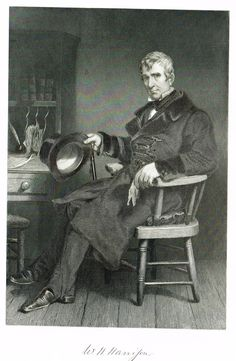 "Duyckinck's National Portrait Gallery - ""WILLIAM HENRY HARRISON"" - Steel Enraving - 1862"