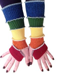 Upcycled clothing | Upcycled clothing TUTORIAL arm warmers from Hope Floats Upcycled