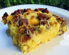 Maple Sausage And Waffle Casserole - Add some Maple Grove Farms syrup ...
