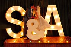 wedding initials light up sign- ok D and I are going to figure out how to do this.