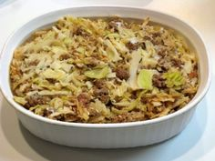 Cabbage, Beef and Rice Casserole - Freezer Meal