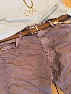 http://www.purpur-modeboutique.de // Belt: Buckles & Belts - Torean Nubuk Leather Belt in marrone / Pants: Please