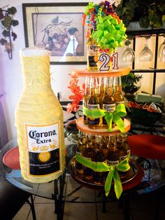 Creative and Unique Birthday Gifts Ideas for Your Boyfriend – Beer Cake Beer Birthday Party, Birthday For Him, Diy Birthday, Birthday Ideas, Cake For Boyfriend, Birthday Gifts For Boyfriend, Boyfriends 21st Birthday, Boyfriend Gifts, Beer Bottle Cake