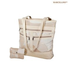 2-Piece Set: Marcellino Genuine Leather On-The-Go Fashion Organizer at 64% Savings off Retail!