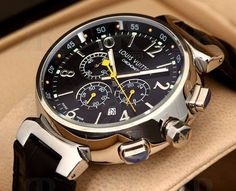 Louis Vuitton Tambour Chronograph - Buy Wrist Watches - Men in Pakistan Best Watches For Men, Luxury Watches For Men, Cool Watches, Rolex Watches, Stylish Watches For Men, Ladies Watches, Casual Watches, Sport Watches, Stylish Men