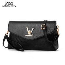 2ddbff9c9d AMONCHY 2017 New Women Shoulder Crossbody Bags Small Famous Brand Bag  Handbags High Quality PU Leather