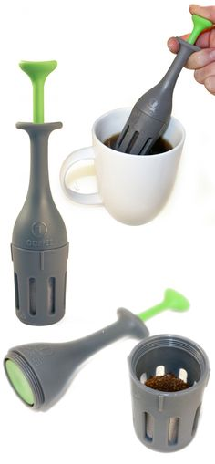 In-cup coffee plunger mini press #product_design