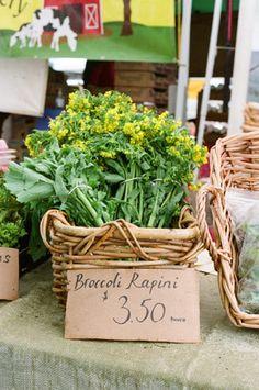 broccoli rapini at PSU farmers market