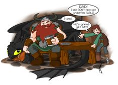well if you've haven't seen the movie by now FOR SHAME! Finally some decent HTTYD fan art from me XD Stoic is a PAIN to draw! How NOT to Train Your Dragon Cute Toothless, Hiccup And Toothless, Hiccup And Astrid, Hiccup Httyd, Got Dragons, Httyd Dragons, Disney And Dreamworks, Disney Pixar, Dragon Comic