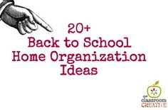 home organization ideas for back to school