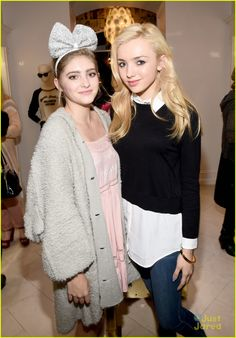 Peyton List meets up with Hunger Games actress Willow Shields
