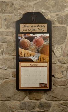 primitive calendar holder