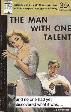 The Man With One Talent ==> Link in description to get your cables clutter free. Pulp Fiction Art, Pulp Art, Vintage Comics, Vintage Books, Pin Ups Vintage, Guy Drawing, Drawing Tips, Wall Drawing, Book Cover Art