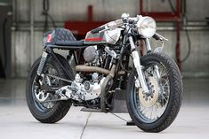 Harley-Davidson Cafe Racer with a Maico gas tank by DP customs