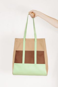 "Tote bag Charisma shopper bag vegan leather por GoodMoodMoon Size: 16"" х 14.5"" (41 x 37 cm.)"