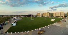 A great view of the Olympic park covered in easigrass. #easigrass #artificialgrass