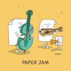 33 Illustrated Literal Idioms, Puns and Proverb Jam Sessions Created By Keren Rosen Punny Puns, Cute Puns, Puns Jokes, Dad Jokes, Funny Cute, Hilarious, Memes, Jokes Kids, Music Jokes