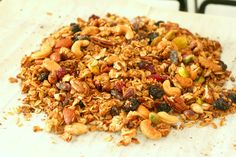 Snack Recipes, Healthy Recipes, Healthy Food, Granola, Muesli, Fried Rice, Fries, Lunch, Cooking