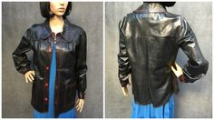 60's Mod Bullock's of England Black Lightweight Leather Jacket with Red Details…