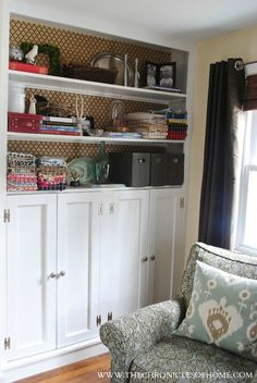 DIY Shaker cabinets built-ins - like the skirting on the bottom of the cabinet