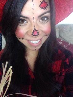 pinterest inspired scarecrow makeup! :)