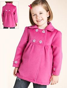 Brown Button Coat - Infant Toddler & Girls | Products | Pinterest ...