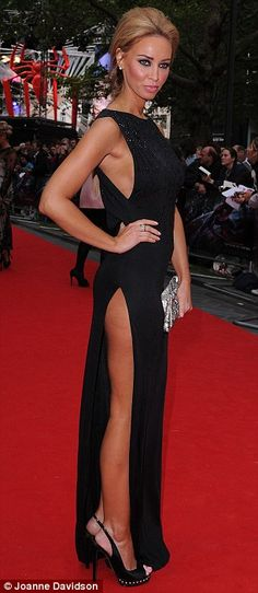TOWIE's Lauren Pope made she she drew attention to herself in a daring dress