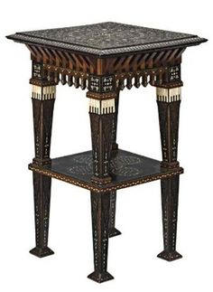 View A table by Carlo Bugatti on artnet. Browse upcoming and past auction lots by Carlo Bugatti. Geometric Furniture, Eclectic Furniture, Table Furniture, Antique Furniture, Cool Furniture, Furniture Design, Furniture Makers, Bugatti, Front Door Design Wood