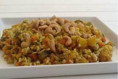 Ρύζι με λαχανικά, κουρκουμά και κάσιους
