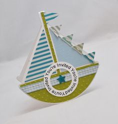 Handmade Sailboat Invitations, Set of Little Sailor Birthday Party Invites Unique Invitations, Invitation Set, Cruise Theme Parties, Cruise Party, Sailor Birthday, 70th Birthday, Triangle Banner, Shaped Cards, Baby Shower Cards