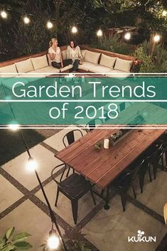Whether you want to design a natural oasis or give your backyard a more luxurious look, 2018 garden trends offer a world of inspiration, featuring diverse and playful designs, come have a look! [Garden Trends, Garden Trends 2018, Backyard Ideas, Small Backyard Ideas, Outdoor Rooms, Outdoor Lounge Rooms, Sofa Lounge, Outdoor Dining Table]